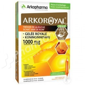 Arkopharma 100% Royal Jelly Orange/Honey Flavour 1000mg
