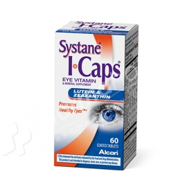 Systane I Caps Eye Vitamin and Mineral Supplement Lutein and Zeaxanthin Formula